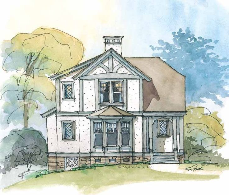 Pin By Nora Mhaouch On Dream Houses: Tudor House Plan With 1091 Square Feet And 2 Bedrooms From