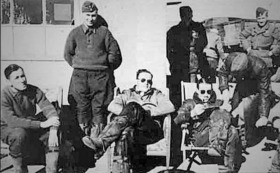 oberlejtenant Adolf Galland (seated right) in Spain, he was commander of Jagdstaffel 3 CONDOR Legion, equipped with he-51