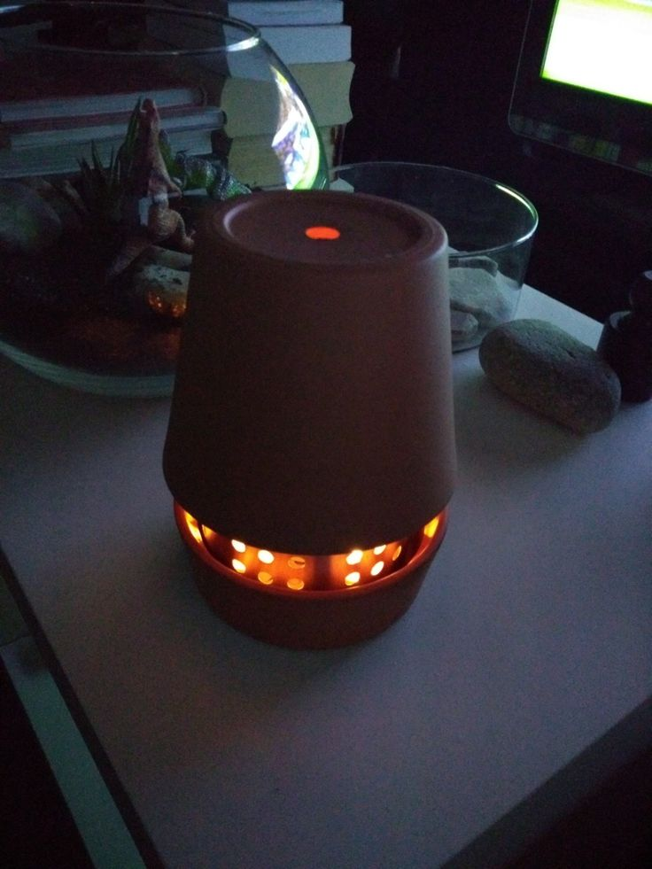 Assemble as shown. And there you have your mini terracotta heater.