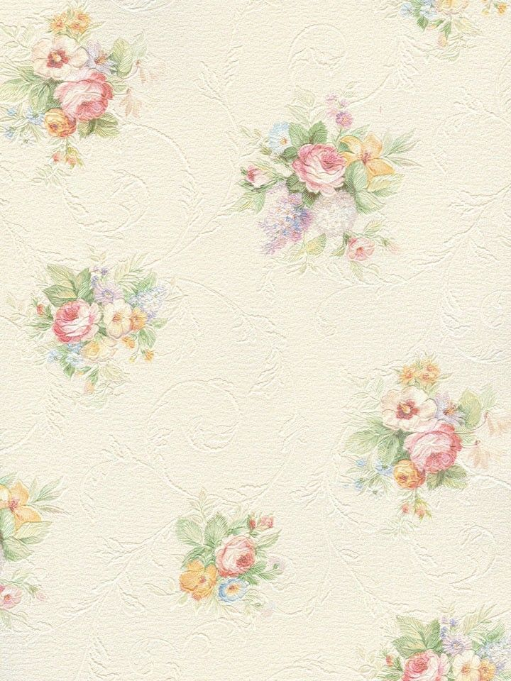 Shabby Chic Floral Rose Wallpaper (soft 23f14ea7b71