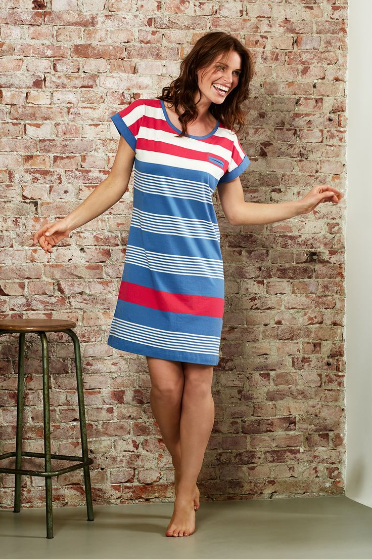Be bold with this stripey Rebelle nightdress!