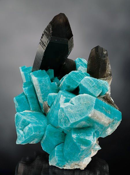Amazonite and Smokey Quartz - Smoky Hawk Claim | Teller Co, Colorado |