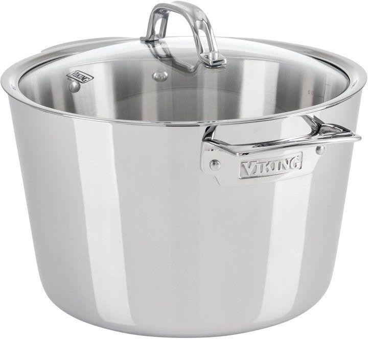 Viking Viking Contemporary Stock Pot Mirror Finish with Lid, 8 quart, - $145.14