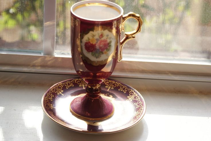 Ohashi china japan porcelain cup  saucer gold plated 1932