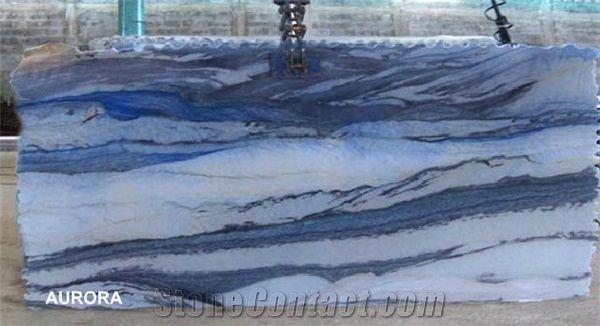 Aurora Quartzite Slabs, Italy Blue Quartzite - StoneContact.com