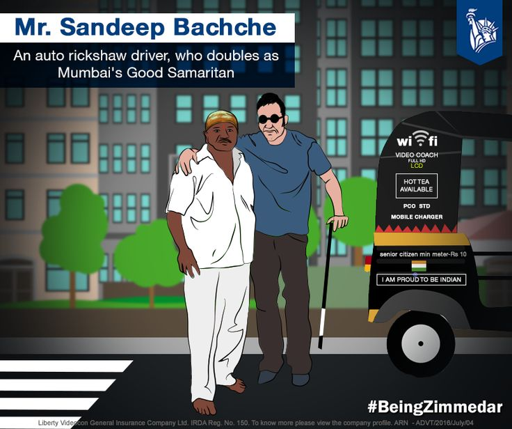 Meet Mr. Sandeep Bachche, whose presence cheers up the Mumbai streets, all thanks to his hard - to - miss colourful rickshaw!  Creating a better future for others makes him a motivation for all!  #BeingZimmedar