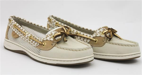 Sperry Top-Sider Women's Angelfish 2-Eye Critters Boat Shoe Ivory 7.5 M US NEW! #SperryTopSider #BoatShoes