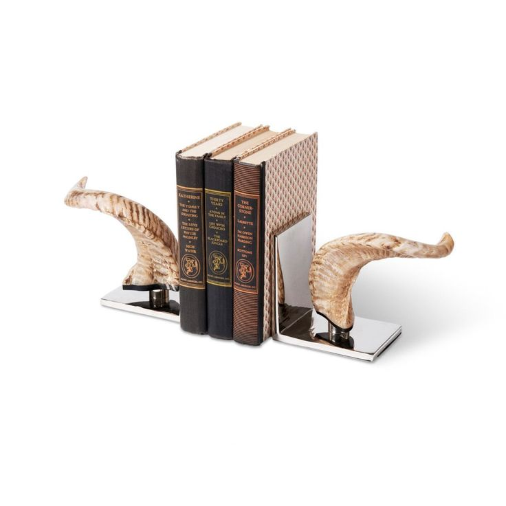 Horn Bookends