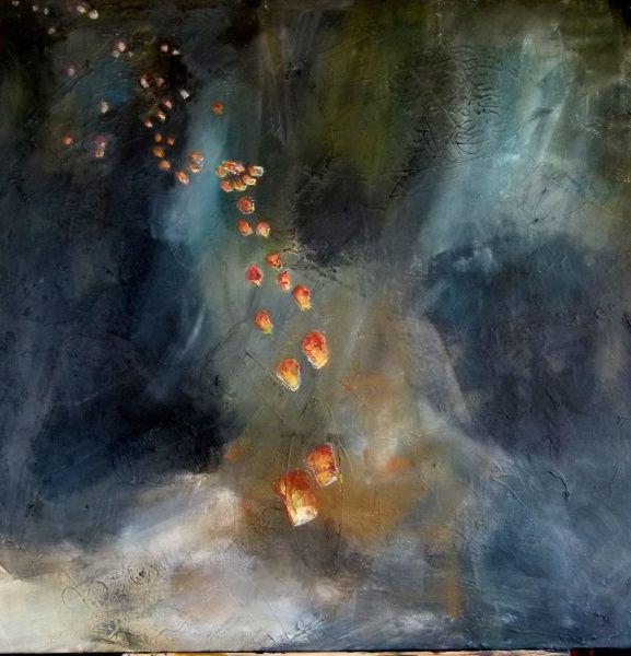 (c) Suzanne Paliard 80 x 80 acrylique sur toile juillet 2015