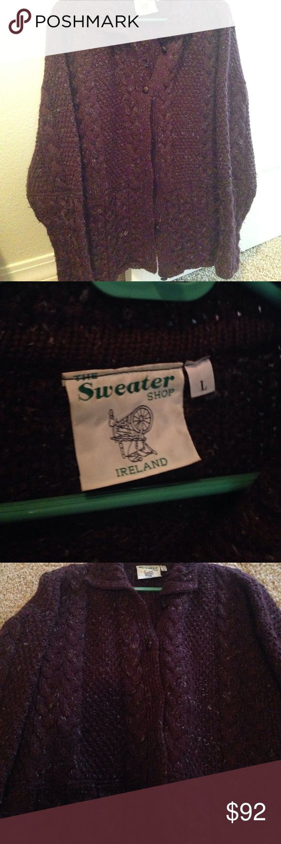 Stunning hand knit Irish sweater Heavy, warm sweater from Ireland sweater shop Sweaters Cardigans