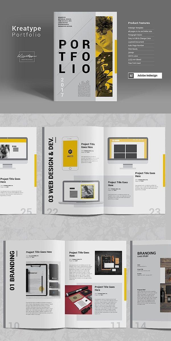 Modelo De Portfólio De Fotografia Kreatype # Portfólio #Lookbook # Brochure # Template …   – Autodesign