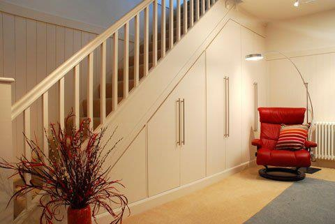 Built-in under-stair storage