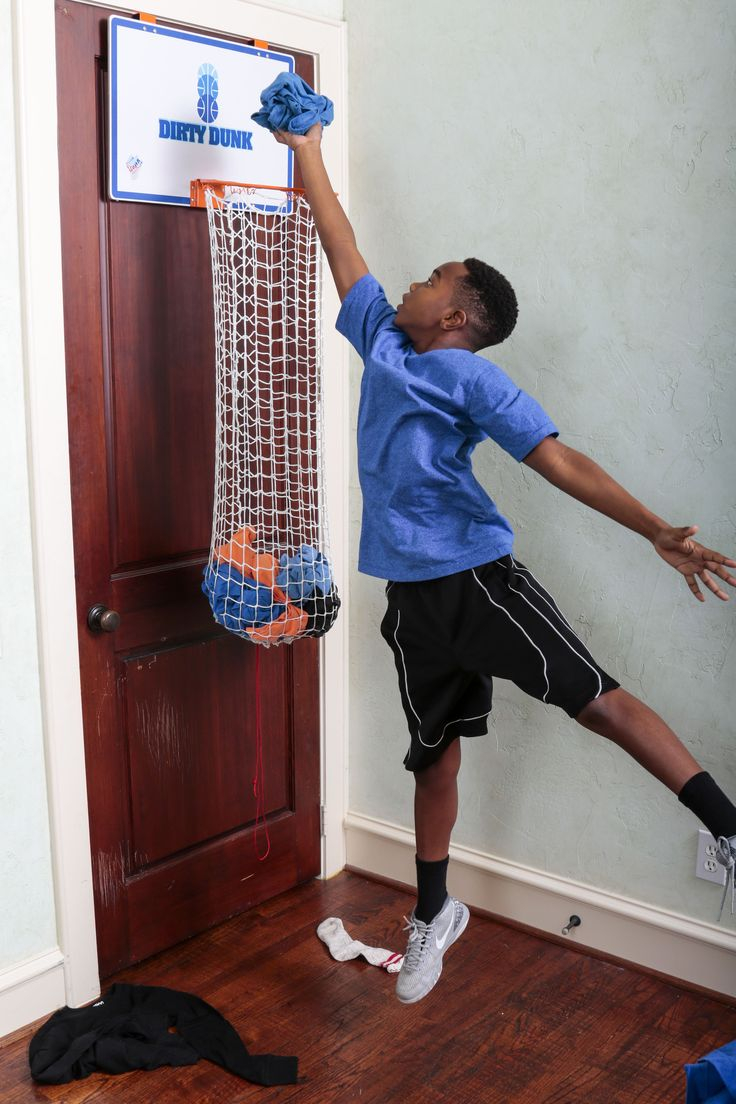 Great gift for boys! Keeps laundry off the floor and is a fun basketball hoop! A classic look for kids and teens bedrooms. Get yours at thedunkcollection.com