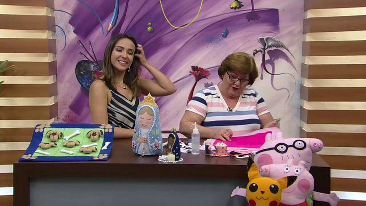 Mulher.com - 29/09/2016 - Jogo da velha em feltro - Silmara Mourão P1