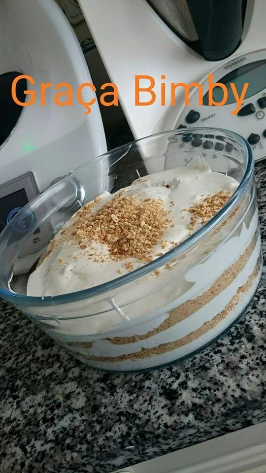 E sai uma serradura para a sobremesa       Ingredientes:  3 pacotes de natas marca aldi  1lata de leite condensado  1colher de café de aroma...