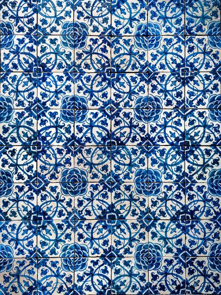 Azulejos, traditional Portuguese tiles.