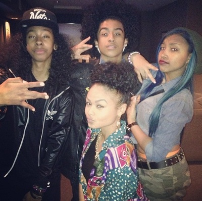 teamindiawestbrooks: India with Ray Ray (From Mindless Behavior), Princeton (From Mindless Behavior) and Star (From the OMG Girlz)