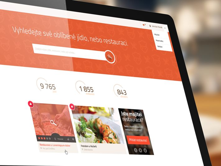 Find food website by Visualcreative.cz , via Behance