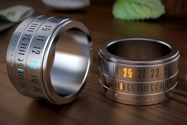 The Ring Clock Helps You Keep The Sands Of Time In Your Hands - not in production yet. You can reserve one for $185, retail will be $250 #Boris_Startievsky #Tech #Ring_Clock #Coolness