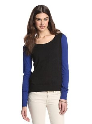 40% OFF Shae Women's Colorblock Sweater (Bright Indigo/Flax)