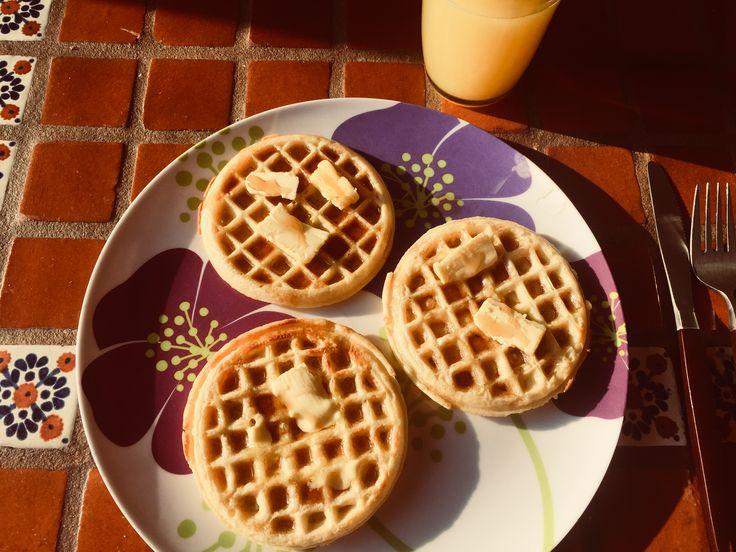 Desayuno: Waffles