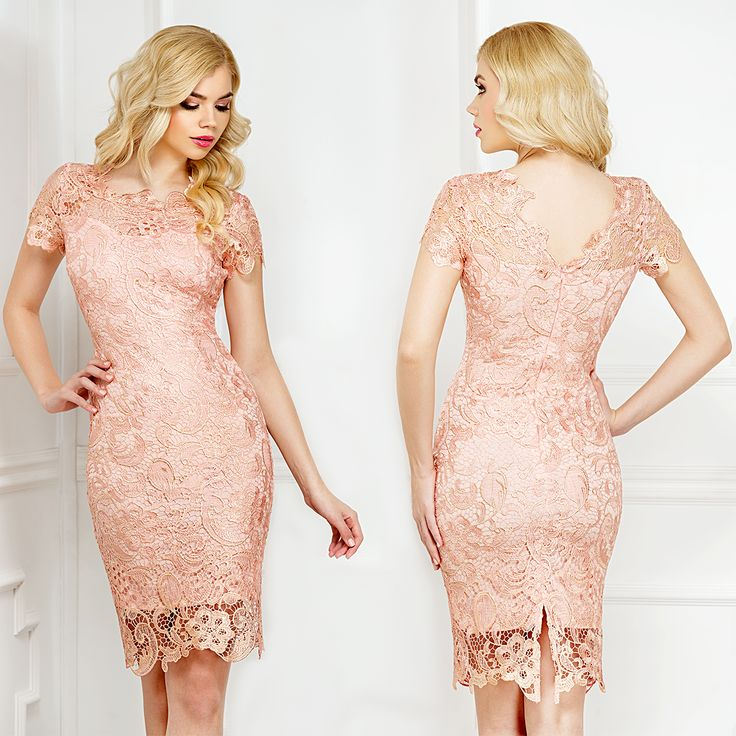 Midi cocktail lace dress in salmon shades: https://missgrey.org/en/dresses/midi-elegant-lace-dress-gold-thread-embroidery-salmon-shades-amira/500?utm_campaign=aprilie&utm_medium=amira_somon&utm_source=pinterest_produs