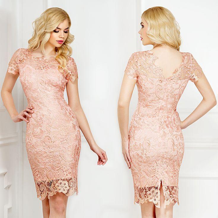 Midi cocktail lace dress in salmon shades: https://missgrey.org/en/dresses/midi-elegant-lace-dress-gold-thread-embroidery-salmon-shades-amira/500?utm_campaign=aprilie&utm_medium=amira_somon&utm_source=pinterest_produs