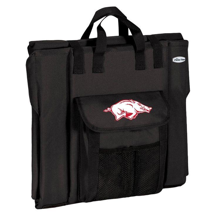 Portable Stadium Seats NCAA Arkansas Razorbacks Black