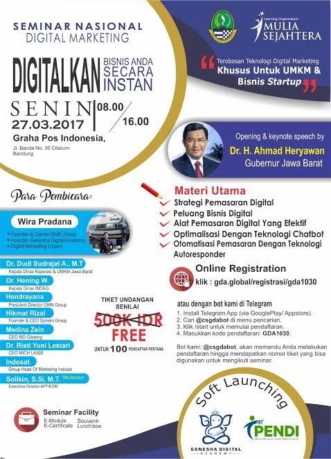 Seminar Nasional Digital Marketing 2017   Seminar Nasional Digital Marketing 2017  2017 digital Marketing Nasional seminar #blogdangkal