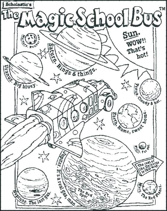 Bus Coloring Page The Magic School Bus Coloring Pages Magic School