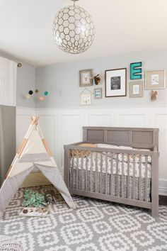 Boho Woodland Nursery - we love how these two design themes came together!