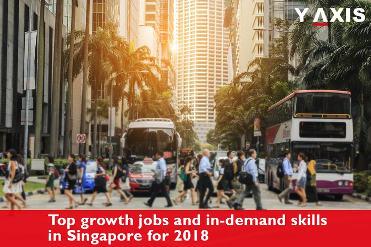 The top growth #Jobs in #Singapore for 2018 are Finance, Professional services, Communications and Information Technology, Healthcare, Logistics, Real estate and Retail and Wholesale. #SingaporeWorkVisa #SingaporeImmigration #YAxisVisas #YAxisImmigration