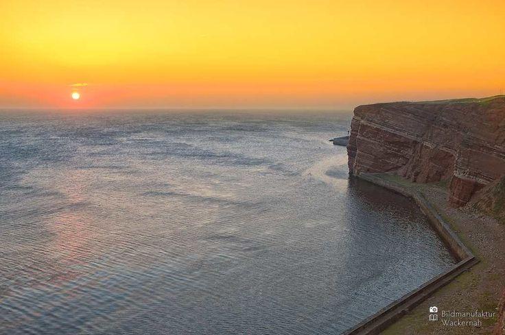 cool Fotografie »Blick nach Süden, Helgoland«,  #Meerbilder #Naturansichten #Sonnenuntergang