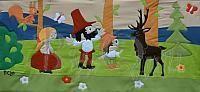 BQ, Rumcájsz, czechoslovakian cartoon, wallquilt, wallhanging, falvédő, faliszőnyeg, falikép,
