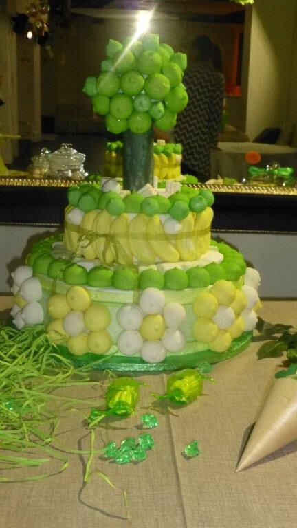 Torta Marshmallow tema safari