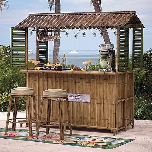 Poolside tiki bar- I have always wanted one of these for my back deck- definitely a honey do project!
