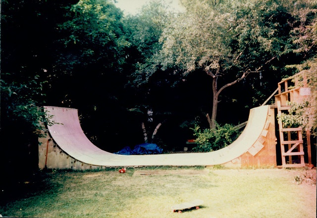 Backyard Halfpipe Plans : Our halfpipe by snakepliskens, via Flickr backyard mini halfpipe