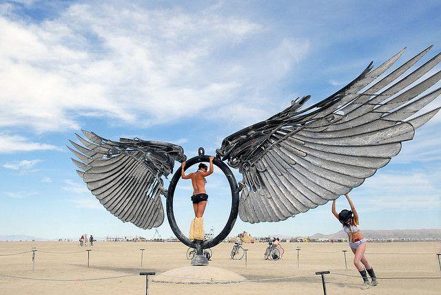 """""""Spread Eagle"""" installation by Bryan Tedrick (Burning Man Festival)"""