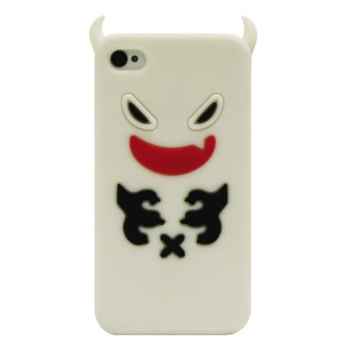 Exian iPhone 4/4S Ghost Silicone Case (4G143) - White                         - Web Only