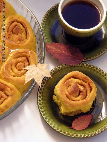 Тыквенный булочки с корицей - Рецепты из диких трав и не только