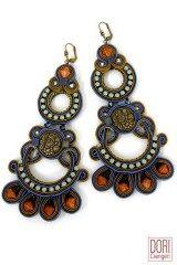 Ronah ornamental statement earrings by Dori Csengeri