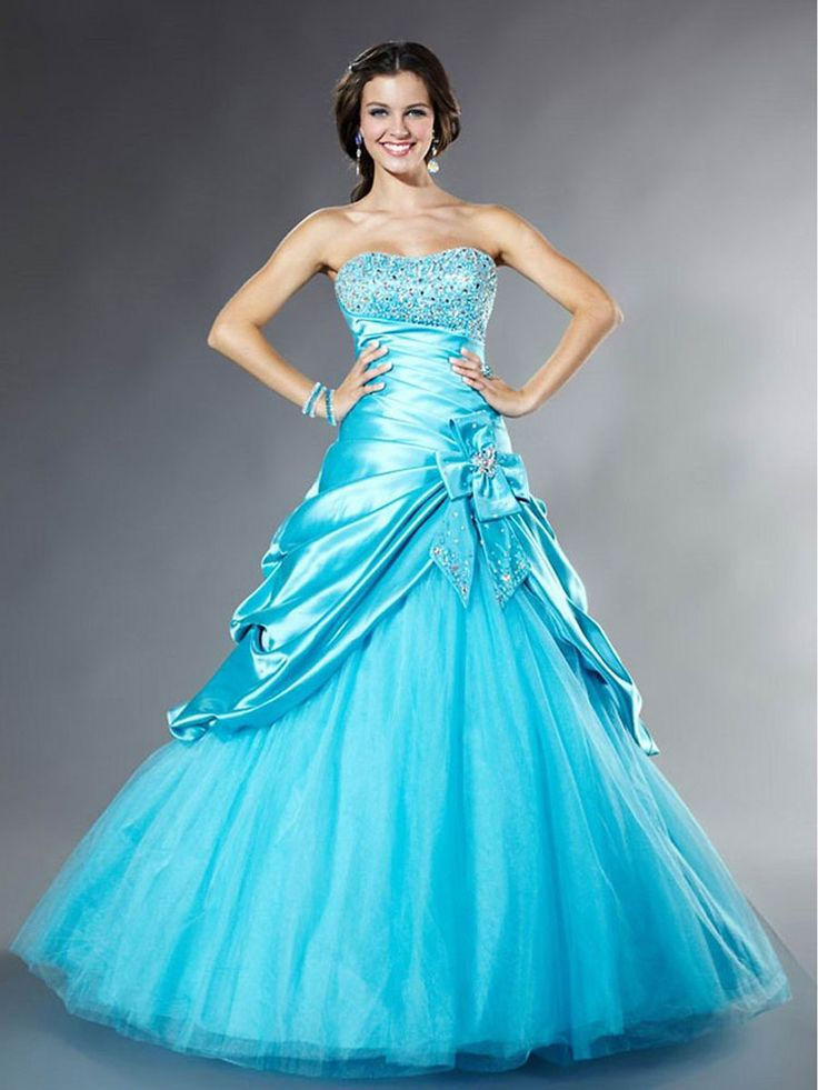 Ball Gown Sweetheart Satin Floor-length Sleeveless Crystal Detailing Quinceanera Dresses at pickedlooks.com