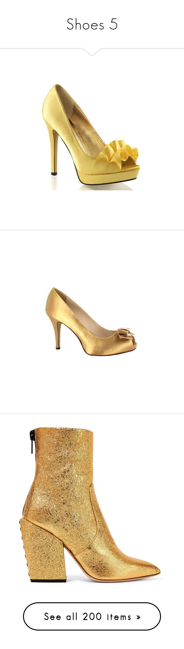 """""""Shoes 5"""" by littlelunna ❤ liked on Polyvore featuring shoes, pumps, heels, dresses, yellow, high heel pumps, high heel shoes, open-toe pumps, peep toe pumps and platform stilettos"""
