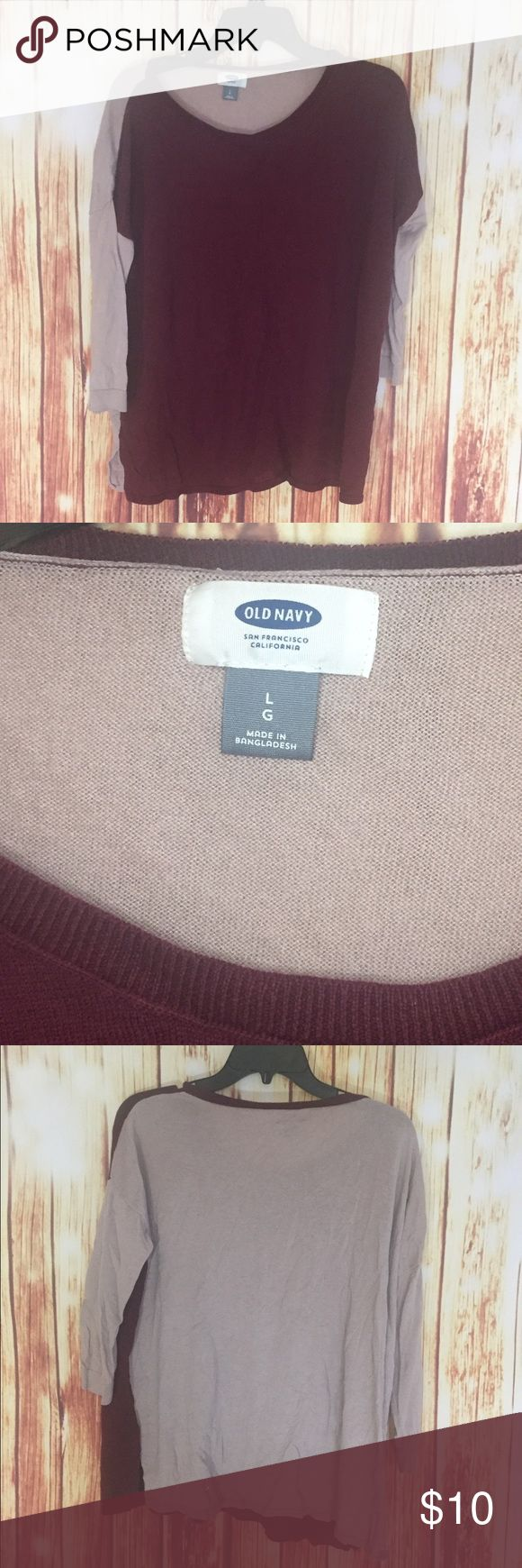 Old navy long sleeve top Color blocking long sleeve top Old Navy Tops