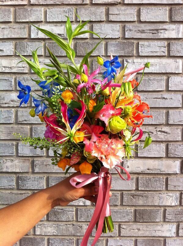 Bruidsboeket wilde bloemen