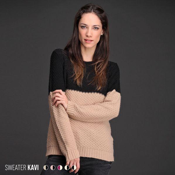 ¡Con el Sweater Kavi da gusto que sea #invierno! ✳ Realizado en lana con acrílico, su diseño bitono lo convierte en una prenda única. Suave, liviano y abrigado.