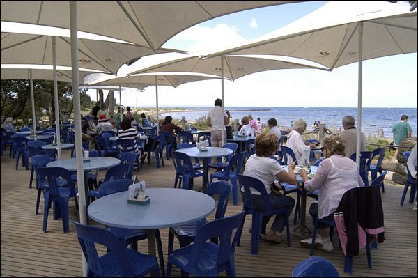 Ricket's Point Teahouse is a local favourite on the Bay foreshore.
