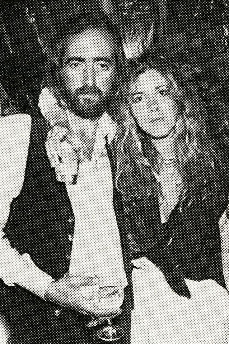John McVie and Stevie Nicks on John's wedding, 1978,,, & DONT HE LOOK FUCKIN HAPPY!!!!!! DONT SIGN ON THE DOTTED LINE,,,MUG