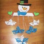 snowman mobile craft