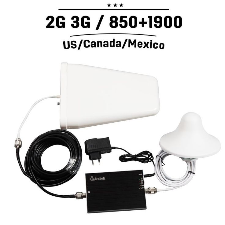 T-mobile AT&T Bell Rogers CDMA GSM 850 PCS 1900 65dB Gain Cell Phone Signal Booster Amplifier Mobile Cellular Repeater +Antenna #CellPhoneAntenna